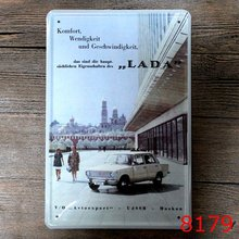 LADA Cool Car Tin sign Art Vintage wall decor House Cafe Bar Antique Iron Painting RM2006 Mix order 20*30 CM