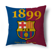 Hot sell Madrid real betis decorative cushion covers for sofa car living room Barcelona throw The home decor pillowcase 45x45cm