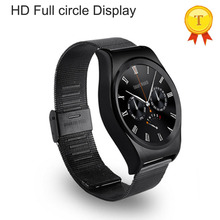 best stainless steel belt Smart Watch With IPS Round Screen Bluetooth 4.0 Heart Rate Monitor Altimeter Leather Strap wristwatch
