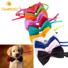 15 Candy colors Fashion Cute Dog Puppy Cat Kitten Pet Toy Kid Bow Tie Necktie Clothes decoration free shipping(China)