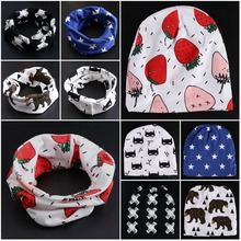 2017 new spring warm baby hat baby scarf baby bibs cotton toddler beanie baby cap kids girl boy(China)