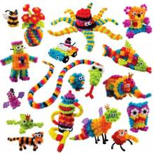 2017 Magic Puffer Ball 1000 Pieces Accessories Build Mega Pack Animals DIY Assembling Spot Best Block Toy Sets for Children