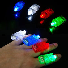 4pcs/Set Fashion LED Party Fun Laser Finger Light Beam Torch Ring Mix Color Glow Party Decoration
