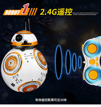 2.4G Star Wars RC BB-8 Robot remote control BB8 robot intelligent small ball TOY Creative