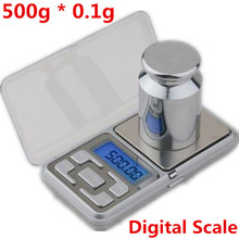 Brand New 500g * 0.1g LCD Digital Jewelry Mini Scales Balance Pocket Mi Scales Electronic Digital Kitchen Scale Drop Shipping(China)