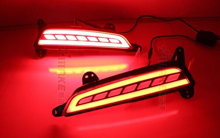 eOsuns LED warning light + brake light + turn signal, rear bumper light for Hyundai ix25 creta 2015-16, wireless switch<br>