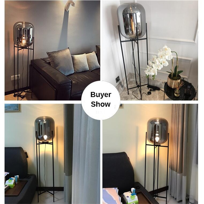 Nordic Style Glass Floor Lamp Retro Melon Floor Lights Fashion Design Glass Table Lamps Lights for Living RoomCountry HouseBar (33)