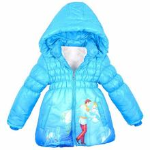 New Baby Girls Snow White Jacket Kids Cotton Keeping Warm Winter Coat Chirdren Character Lovely Hoodies Outerwear(China)
