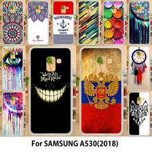 AKABEILA Case For Samsung Galaxy A5 2018 Cases Silicone TPU Soft Covers Duos with dual-SIM card slots A530F A530F/DS Flags(China)