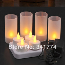 New LED Rechargeable candles Feat Tea Light Night Lights Lamp Gift for Kids Wedding Party Home Holiday Bar Luminaria Dectoration