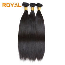 Royal Malaysian Straight Human Hair Natural Color 2 Bundles Or 3 Bundles One Pack NonRemy Human Hair Weaving Bundles Soft(China)