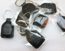 Leather Keychain keyfobs No. 1 ID card /ID cell dermis key buckle / access keys / RFID leather timecard