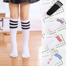 Wholesale 500pairs kids Knee High sports Socks Girls Boys Football Stripes Cotton socks Skate Children Baby Long Tube Leg warm(China)