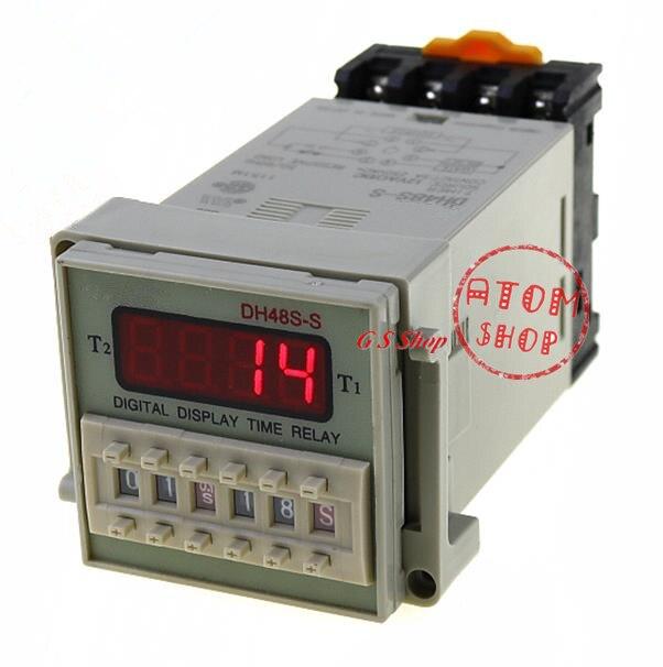 Componentes de luz DH48S-2Z AC 110V 8 patillas del Relé de temporización digital 0,01S 99h 99m w zócalo
