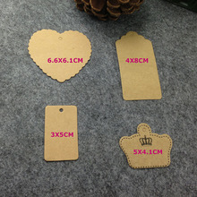 4 item mix DIY Hand Made Kraft Tag Custom logo Cost Extra MOQ : 1000 PCS Garment Tag 1LOT =100PCS Tag+100 Twine Tag String