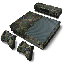 Camouflage Camo Pattern Removable Waterproof Vinyl Sticker Protective Cover film Decal Skin for XBOX One Console+2 Controller