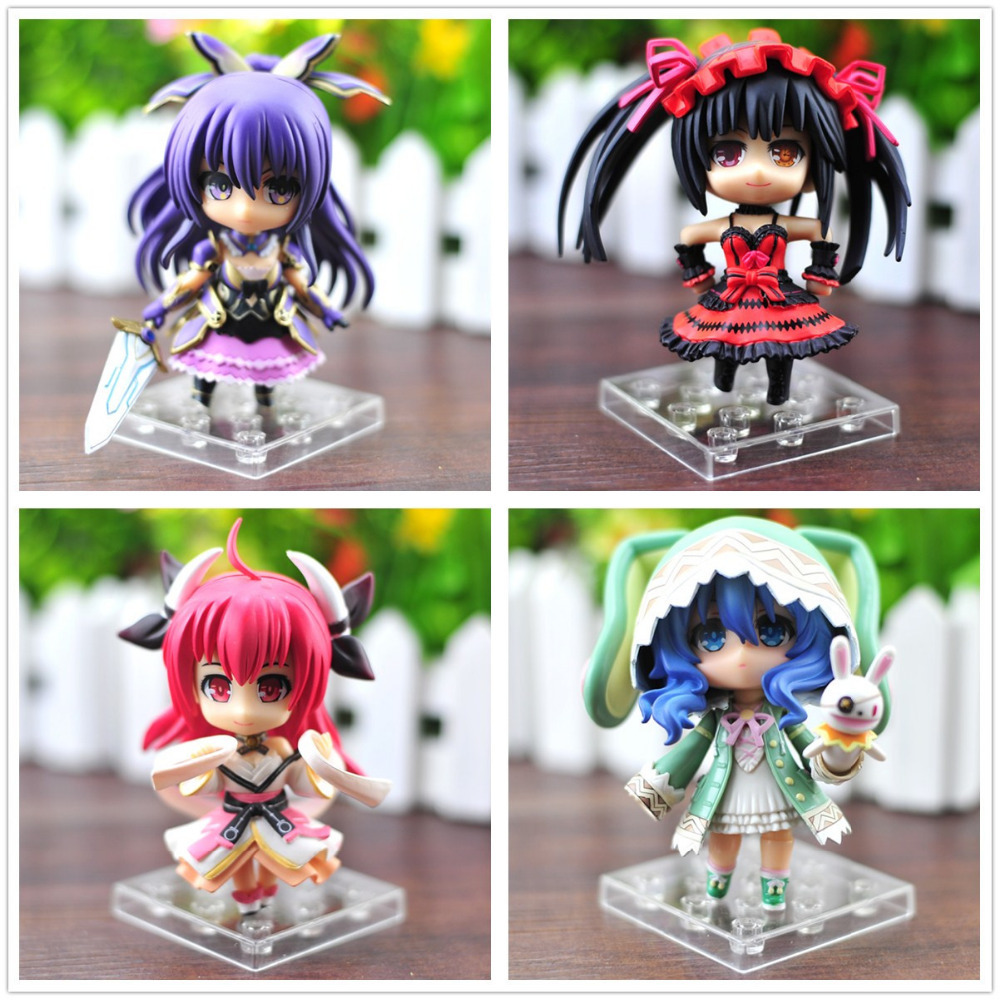 4pcs/set Date A Live Figure Toys Tokisaki Kurumi Yoshino Tohka Yatogami Itsuka Kotori PVC Action Figures Collectible Toys in Box<br><br>Aliexpress