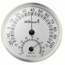 Gemlead High Temperature measuring stainless steel Indoor Outdoor Thermometer Hygrometer sauna bath laboratory Weather Station