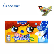 Marcadores Marco Kids Art Washable Watercolor Marker Bullet Head Colored Aquarel Markers Graffiti Paint Drawing Pens Double Line(China)