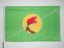 Zaire Flag 150X90cm (3x5FT) 120g 100D Polyester Double Stitched High Quality Free Shipping Democratic Republic Of The Congo