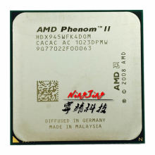 AMD Phenom II X4 945 95W 3.0GHz Quad-Core CPU Processor HDX945WFK4DGM Socket AM3
