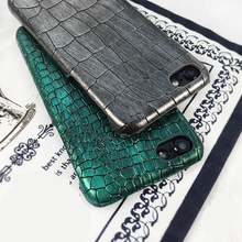 Luxury Green Purple Silver Sequins Crocodile Skin PU Leather Case Cover for iPhone 7 7plus 6 6s plus(China)