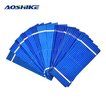 Aoshike 100pcs Mini Solar Panel 52 * 22mm Polycrystalline Silicon Solar panels 0.19w 0.5v/DIY Cell Phone Charging Battery