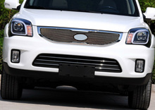 FIT FOR 2013 KIA Sportage High quality Aluminum alloy Front Grille Around Trim Racing Grills Trim 1PCS(China)