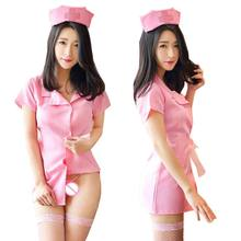 Buy porn baby dolls dress sexy erotic lingerie women cosplay nurse uniform sex maid lingerie sexy costumes women underwear role play