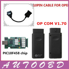 Latest software OP COM V1.70 with PIC18F458 chip Diagnostic Interface op-com opcom with opel 10 pin male to female obd cable