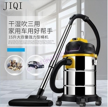 Vacuum cleaner household handheld wet and dry blow large power ultra strong silent barrel type 15L large capacity