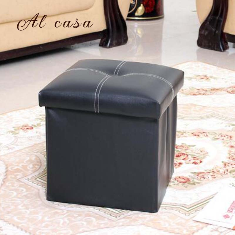 Free shipping Pu foot  square stool with storage space living room ottoman children stool kids storage box footrest<br>