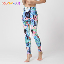 Buy Colorvalue Colorful Butterfly Printed Yoga Leggings Women 3D Animal Printed Yoga Fitness Pants High Waist Sport Leggings Tights for $16.34 in AliExpress store