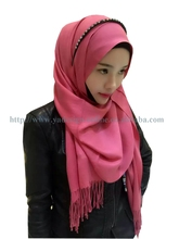 20pcs/bag Latest design 180*70cm solid color 6COLORS French pashmin cotton long muslim scarf islamic shawl