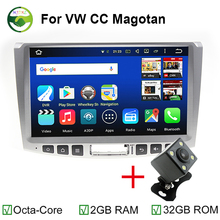 MJDXL Octa Core 1024*600 Android 6.0 Car Multimedia Player Stereo Head Unit for Magotan Passat CC Radio BT Support 4G LTE