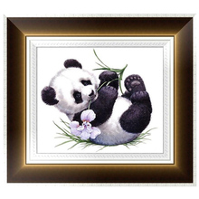 DIY 5D Diamonds Painting Round Panda Diamond Embroidery Cross Stitch Kits Diamond Mosaic Home decor 35*30cm W215
