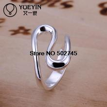 Top quality Silver Plated & Stamped 925 wave wather tag rings for women fine jewelry stone party ring wholesale promotion