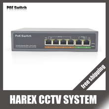 6 port switch with 4 ports PoE ( 10 port switch with 8 ports PoE)  Switch 10/100mbps IEEE802.3af Standard for IP camera