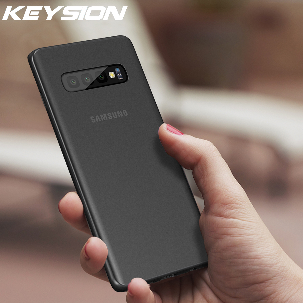 KEYSION Phone Case For Samsung Galaxy S10 Plus S10e Coque Ultra Thin Slim Frosted Cover For S10 Case For S10+ S10 Plus Fundas(China)