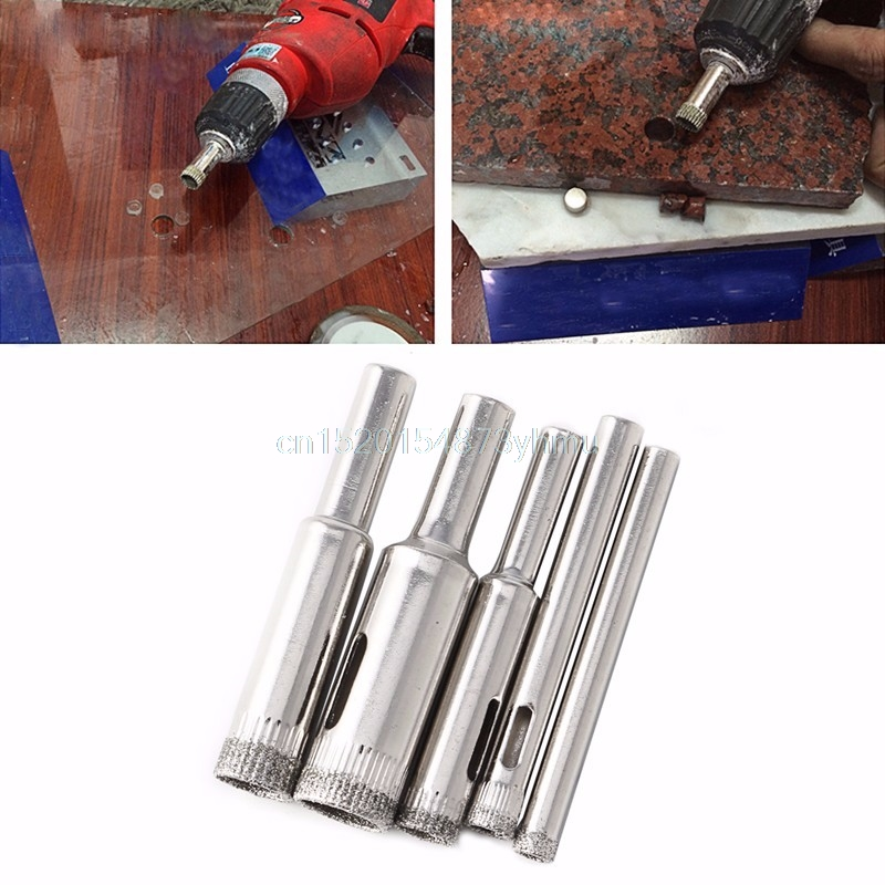 Nice 5 Pcs Hole Saw Drill Bits 5mm to 12mm Ceramic Drill Bits Tools Hole Saw Use for Glass Marble Tile or Granite #L057# new hot
