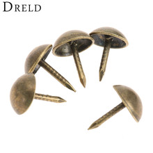 100pcs 7x11mm Pushpin Doornail tachas Hardware Antique Bronze Decorative Upholstery Nail Jewelry Gift Box Decorative Tacks Stud