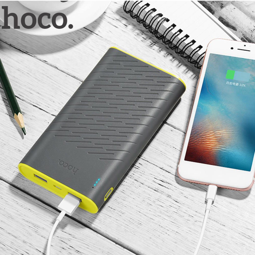 HOCO B31 Portable Power Bank 18650 Lithium Battery Large Capacity 20000mAh Mobile Phone Charger LED Indicator Light