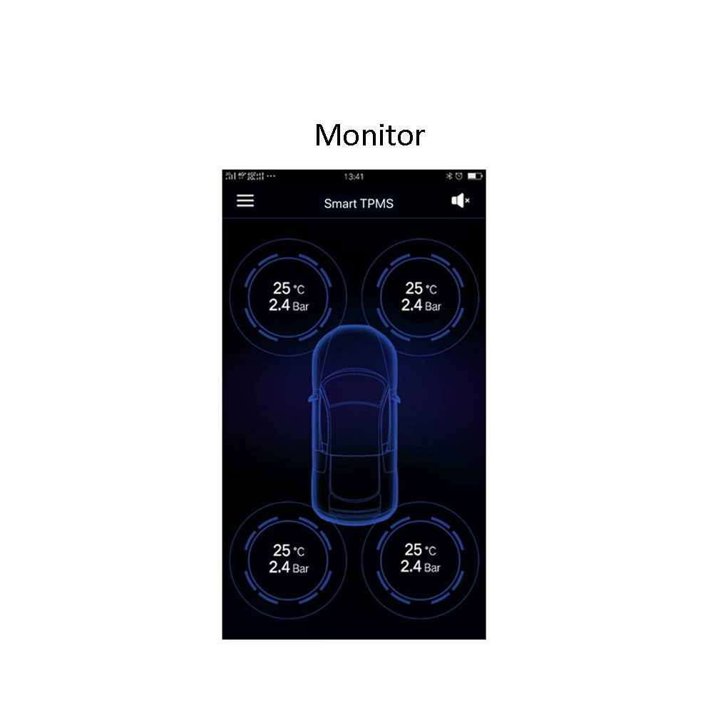Vantrue TPMS Tire Pressure Monitor System Wireless Bluetooth Connect with Free App for Android IOS Auto Security Alarm System (6)