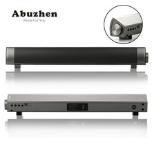 Abuzhen Bluetooth Speaker Slim Altavoz Portatil Bluetooth Receiver Soundbar USB Speaker Stereo Subwoofer Boombox For Computer TV(China)