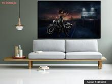Motorcycle Still life Modern oil Painting Drawing art Spray Unframed Canvas handmade landscape wire straw square brass53105705(China)