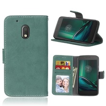 Retro Leather Case For Motorola Moto G4 Play Cases Luxury Wallet Flip Cover for Moto G4 Play Phone Case with Card Holder Bag