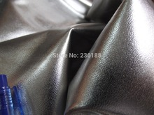 Genuine Matallic Silver Goat Skin Leather Fabric for Shoe ,Handbag, 0.9-1.1mm ,Free shipping by China post