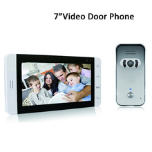 "2015 Newest The most popular 7""Wired video door phone intercom system night vision doorbell system with waterproof camera"