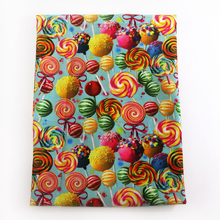 50*145CM cupcake lollipop patchwork Polyester cotton fabric for Tissue Kids Bedding home textile for Sewing Tilda Doll,c695(China)