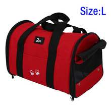 SZS Hot L Pet Dog Cat Portable Travel Carrier Tote Bag Crates Kennel(China)